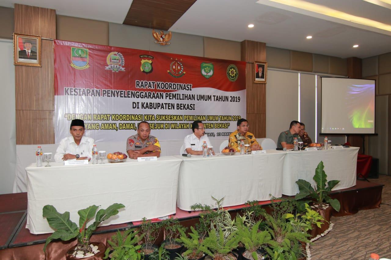 Rapat Koordinasi Kesiapan Pemilihan Umum Tahun 2019. Foto: Humas Pemkab Bekasi/Suara Bekasi Online