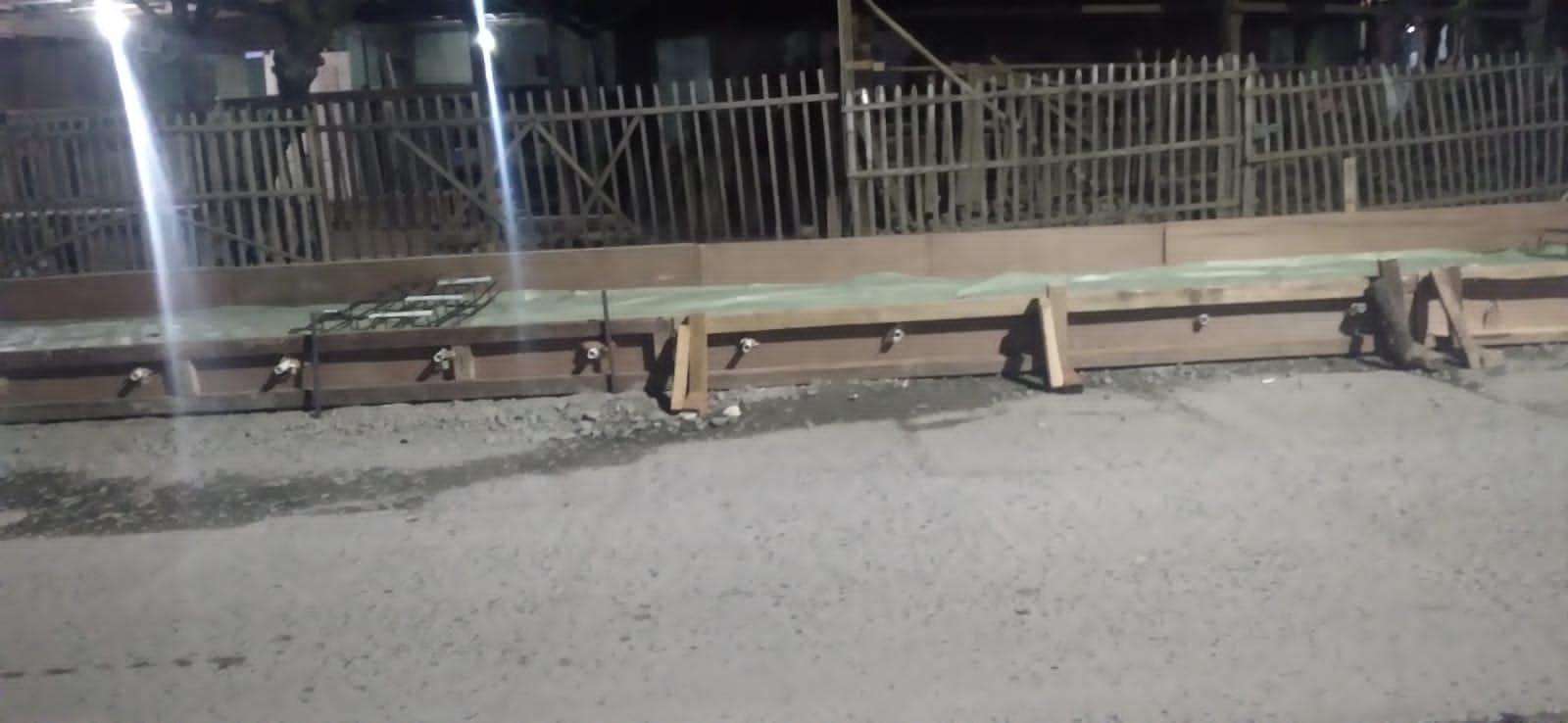 Lokasi pembangunan Jalan raya Bosih yang tak sesuai standar. Ist/Suara Bekasi Online.
